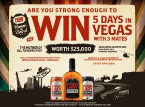 Bearded Lady Bourbon – Win a 5 day trip in Vegas with 3 friends