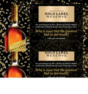 Bottlemart – Win a 700ml bottle of Johnnie Walker Gold Label