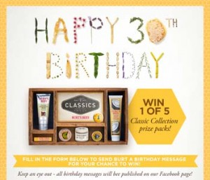 Burt's Bees – Win 1 of 5 Classic Collection prize packs