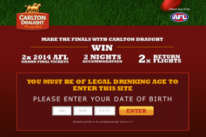 Carlton Draught – Win 2 x 2014 AFL Grand Final Tickets and a trip to Melbourne (enter via Prime7, GWN7 and 7QLD)