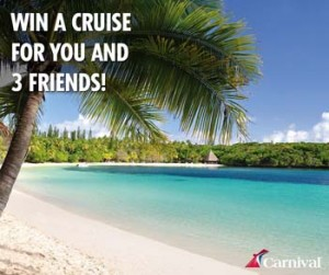 Carnival Cruise Lines Australia – Win a Cruise for you and 3 friends