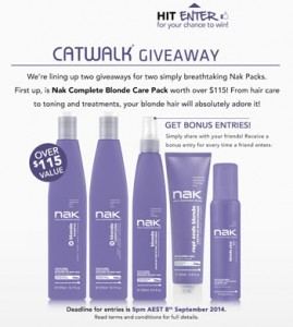 Catwalk – Win a Nak Complete Blode Care Pack