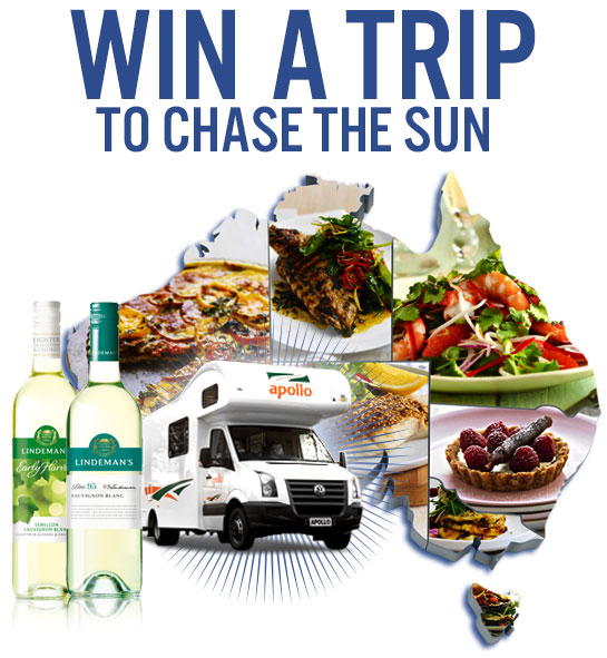 Channel 7 – Better Homes and Gardens – Win a week of food and trip in the Lindemans campervan ply $2,000
