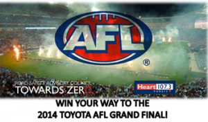 Heart 1073 – Win return flights and one nights accommodation to Melbourne with tickets to the 2014 Toyota AFL Grand Final