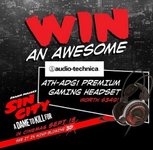 Icon Film Distribution – Win the ultimate gaming headset-The Audio Technica ATH-ADG1 Premium Gaming Headset