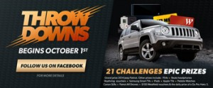 Kelloggs Nutri-Grain Throw Downs Challenge – Win great prizes including a Jeep Patrio for grand prize