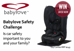 Mouths of Mums – Win 1 of 2 Babylove Ezy Combo Harnessed Booster Seats valued at $249 each