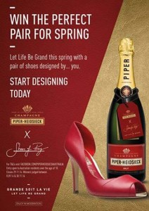 Piper-Heidsieck – Win 1 of 50 $250 vouchers to spend on shoes