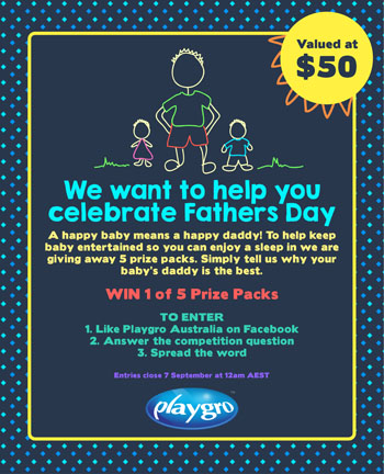 Playgro Australia – Win 1 of 5 Playgro Prize Packs