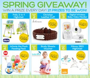 Practical Parenting Magazine – Spring Giveaway-Win a Prize Everyday-21 Prizes to be Won