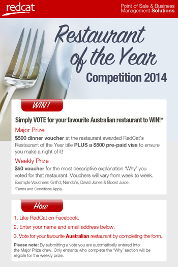 chance to Win $1000 Culinary experience Major Prize plus weekly prizes