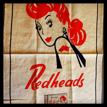 Redheads – Win 1 of 20 vintage design Redheads tea towels