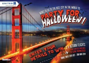Skiddoo – Win 2 return tickets to San Francisco for Halloween