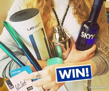 SKYY Vodka – Win SKYY Vodka prize packs valued at $7000 over