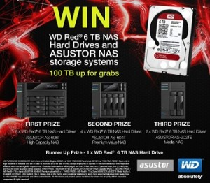 WD – Win WD Red 6 TB NAS hard drives and ASUSTOR NAS storage system