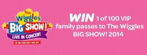 Woolworths Baby and Toddler Club – Win 1 of 100 VIP family tickets to The Wiggles Big Show