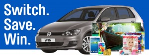 AGL – Switch and Save to win a share of $8 million worth of prizes plus a Volkswagen Golf Car