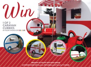 All My Loves – Win 1 of 2 Caravan Cubbies in the colour of your choice