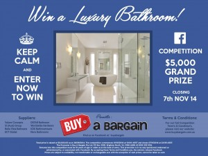Buy A Bargain – Win A Luxury Bathroom Valued At $5,000!