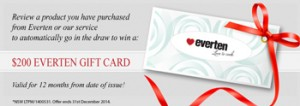Everten – Review a product for a chance to Win a $200 Gift Voucher