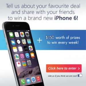 Shop A Docket – Tell your favourite deal for a chance to Win a new iPhone 6 PLUS $150 worth of prizes to win weekly