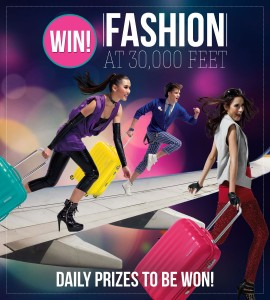 American Tourister Australia & New Zealand – Win daily prizes (vouchers and suitcase) with Fashion at 30,000ft Competition