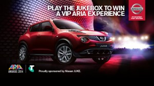 Channel Ten – Win a trip to VIP ARIA Awards 2014, Sydney thanks to Nissan JUKE