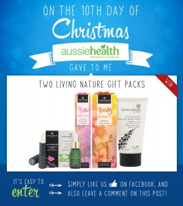 10th Day of Christmas – Two Living Nature Skincare Gift Packs