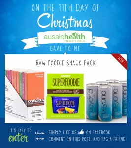 11th Day of Christmas – Raw Foodie Snack Pack