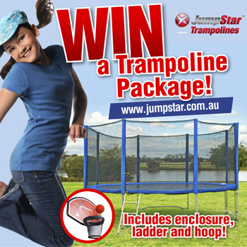 jump star trampoline win a jump star trampoline package fo australian competitions. Black Bedroom Furniture Sets. Home Design Ideas