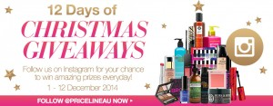 Priceline  – Instagram 12 days of Christmas Giveaway with #PricelineXMAS