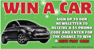 Sanity – Sign up to Win a brand new Fiat 500 valued at $17,000