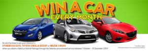 Selectus – Lease to win a car (Hyundai i30, Toyota Corolla, Mazda 3) every month