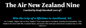 Air New Zealand – Auckland Nines – Win a trip to New Zealand