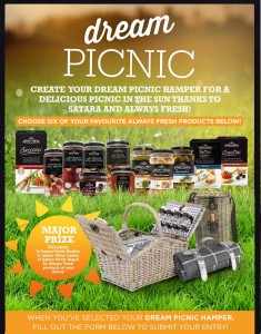 Always Fresh – Win picnic set includes Satana picnic basket, wine cooler, rug and Always products