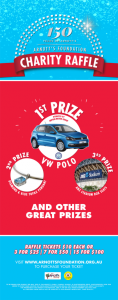 Arnott's Foundation – Buy Raffle Ticket To Win a VW Polo 66TSI Trendline car with a boot full of Tim Tams valued at $17,670