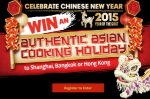 Asian Inspirations – Win a trip to Shanghai, Thailand or Hong Kong and Oriental Merchant products minor prizes