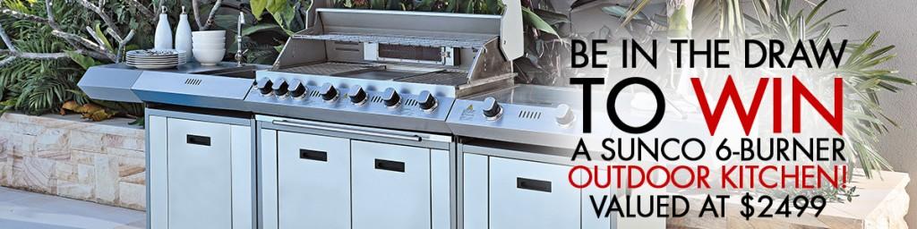 Harvey Norman Win A Sunco 6 Burner Outdoor Kitchen Bbq