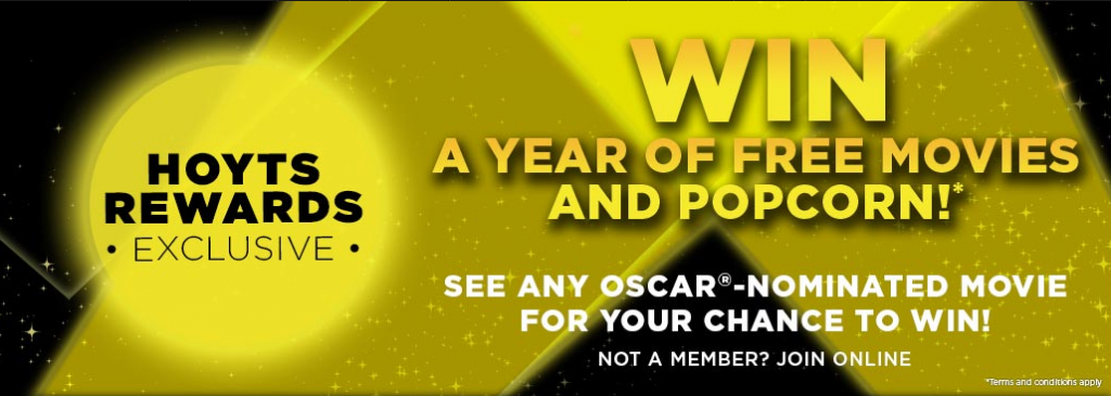 hoyts rewards � win a year of free movies tickets and