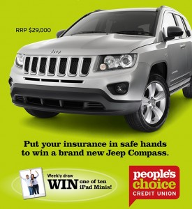 People's Choice Credit Union Insurance – Win a Jeep Compass Car valued at $29,000
