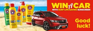 Surf Lifesaving Sunscreen – Win a 2014 Fiat Freemont, 7 seat, automatic Car (purchase product to win)