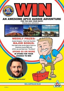 APCO IGA – Win a trip to Uluru, Sydney or Port Douglas (spend $5 or more in store to win)