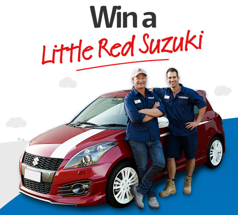 Red 2014 Suzuki Swift Sport Car thanks to Coles Home and Car Insurance