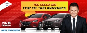 2GB 873AM – Win 1 of 2 Mazda 2 Neo in Manual and Automatic