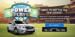 Hyundai Australia – Win a 2015 Hyundai Sonata Car and Instant Win Prizes this ICC World Cup (Play game to win)