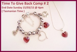 A Little Bit of Everything – Win a Childrens Maroon Crystal Heart Bracelet/Necklace set