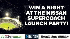 Herald Sun – Win a night at the Nissan supercoach launch party