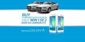 Samsung – Win 1 of 2 Audi A3 Cabriolets Cars (Buy Samsung Galaxy A3 or A5)