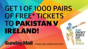 The Advertiser – Win 1 of 1,000 pairs of tickets to Pakistan v Ireland
