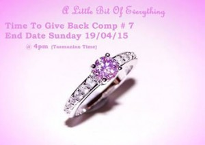 A Little Bit of Everything – Win a Pink sapphire 10K white Gold Filled Ring